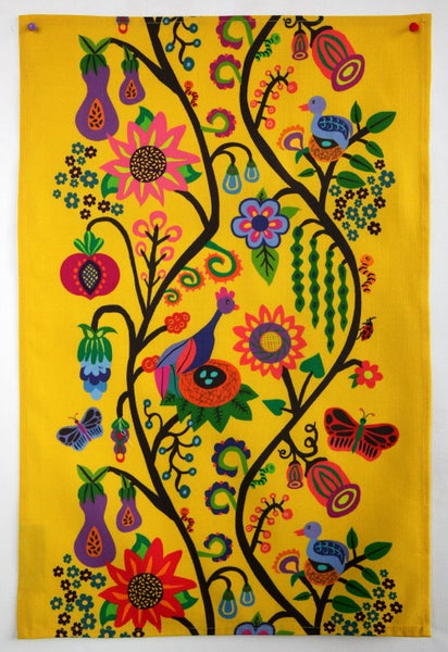 Image of Bountiful Life Tea Towel Yellow - FREE SHIPPING