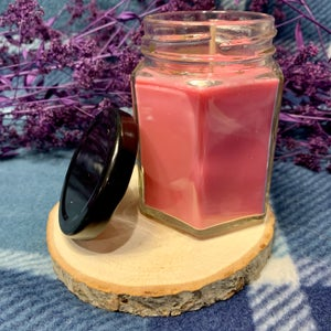 Candy Cane Healing and Happiness 6oz Hexagon Candle