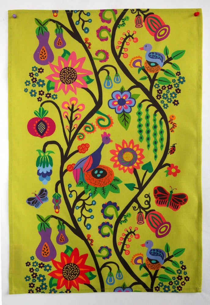 Image of Bountiful Life Tea Towel Celery - FREE SHIPPING