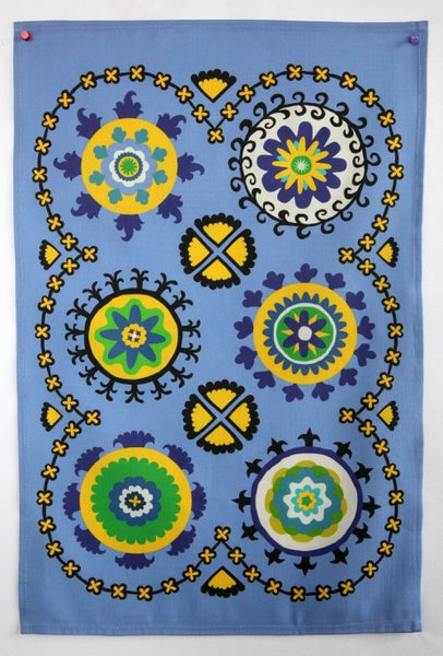 Image of Suzani Panel Tea Towel Blue - FREE SHIPPING