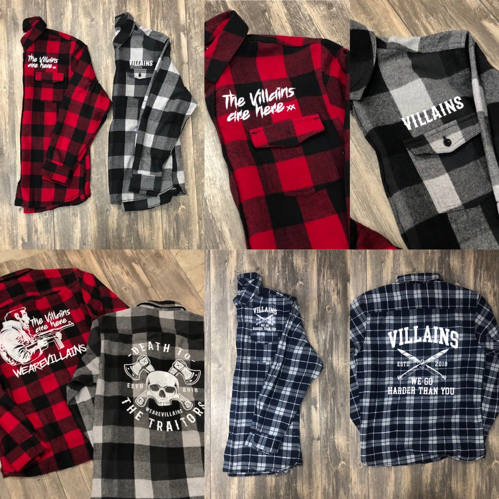 Image of WEAREVILLAINS premium flannel button ups