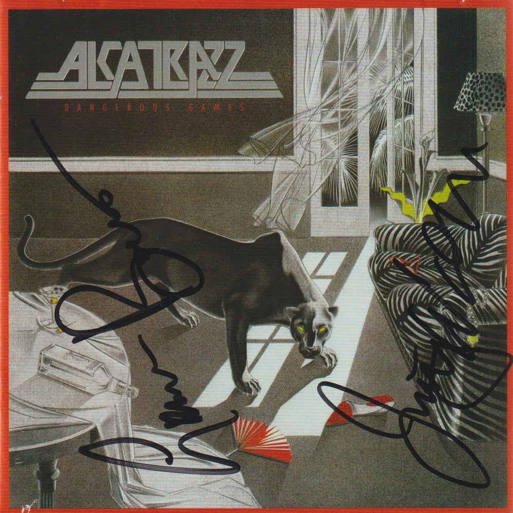 Image of ALCATRAZZ - Dangerous Games - CD Autographed