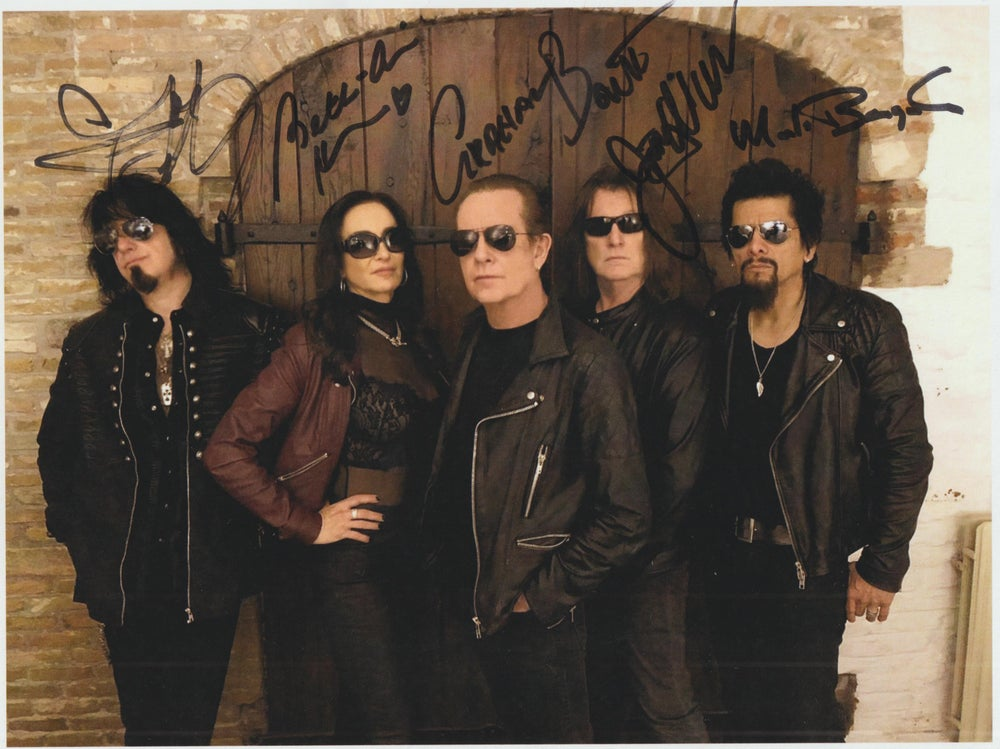 Image of ALCATRAZZ - Autographed Photo - 28 x 21.5 cm Entire Band