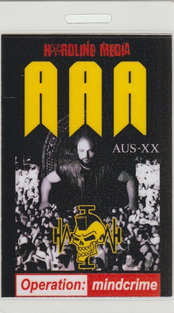 Image of GEOFF TATE - Operation Mindcrime - Aussie Tour AAA Laminate