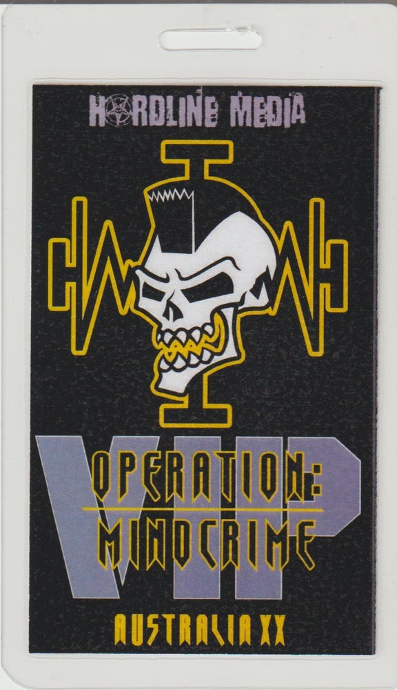 Image of GEOFF TATE - Operation Mindcrime - Aussie Tour VIP Laminate