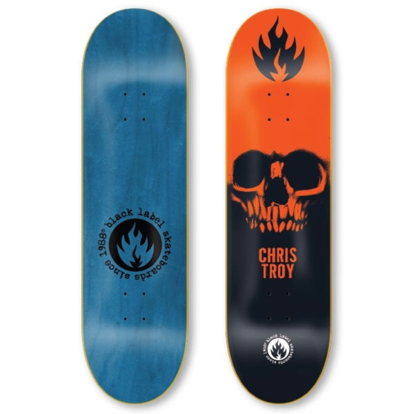 "Image of Chris Troy ""Skull"" 8.5"" Orange"