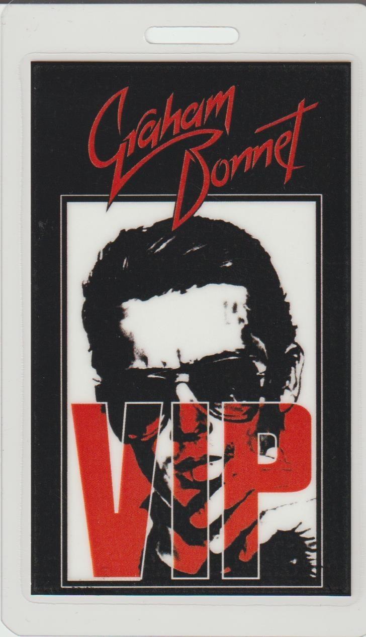 Image of GRAHAM BONNET Aussie Tour VIP Laminate
