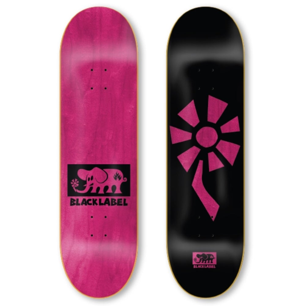 "Image of Flower Power 8.25"" black/pink"