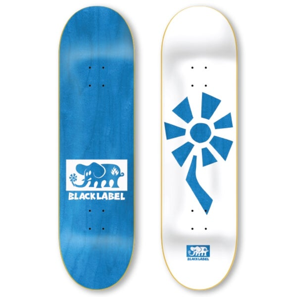 "Image of Flower Power 8.5"" white/blue"
