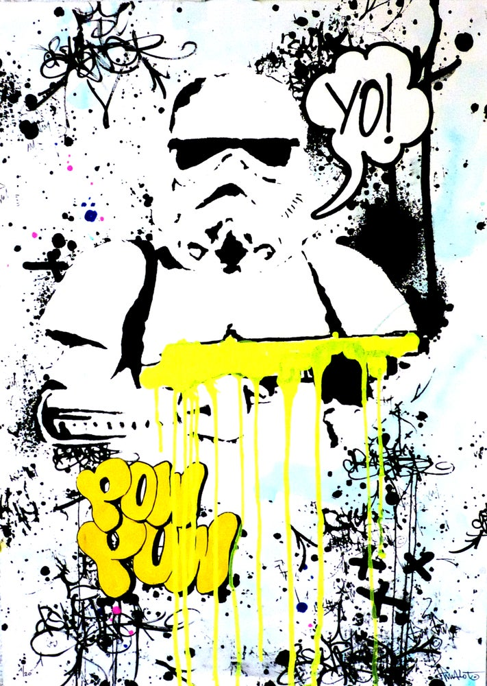 Image of YO! Startrooper Yellow (edition hand painted Signed)!