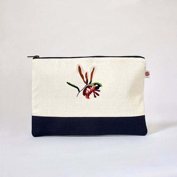 """Image of Pochette A5 bicolor """"Orchidée Nyungwe"""""""