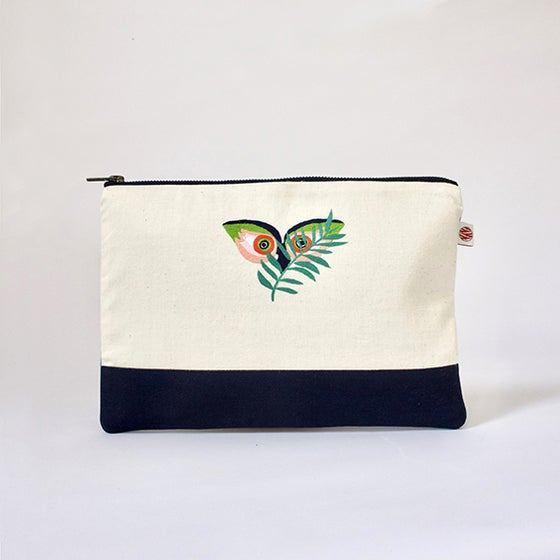 "Image of Pochette A5 bicolor ""Hiboux Nyungwe"""
