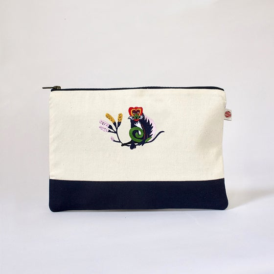 "Image of Pochette A5 bicolor ""Singe Nyungwe"""