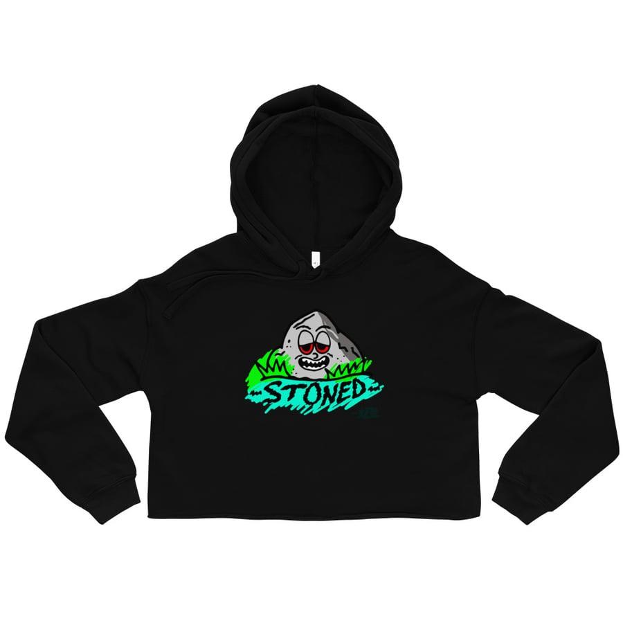 Image of Stoned Fleece Crop Hoodie
