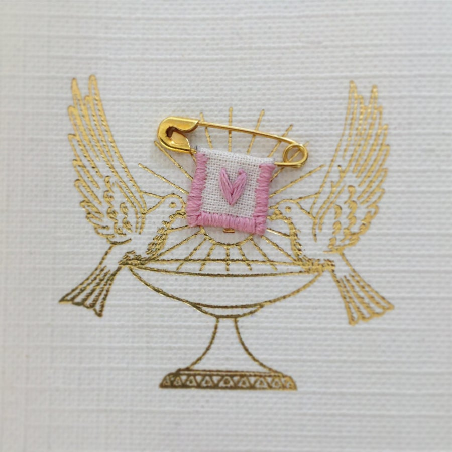 """Image of Broche """"Médaille Miraculeuse"""" (Rose)"""