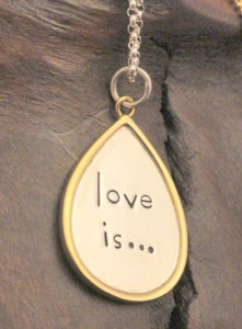 Image of Love is...Necklace
