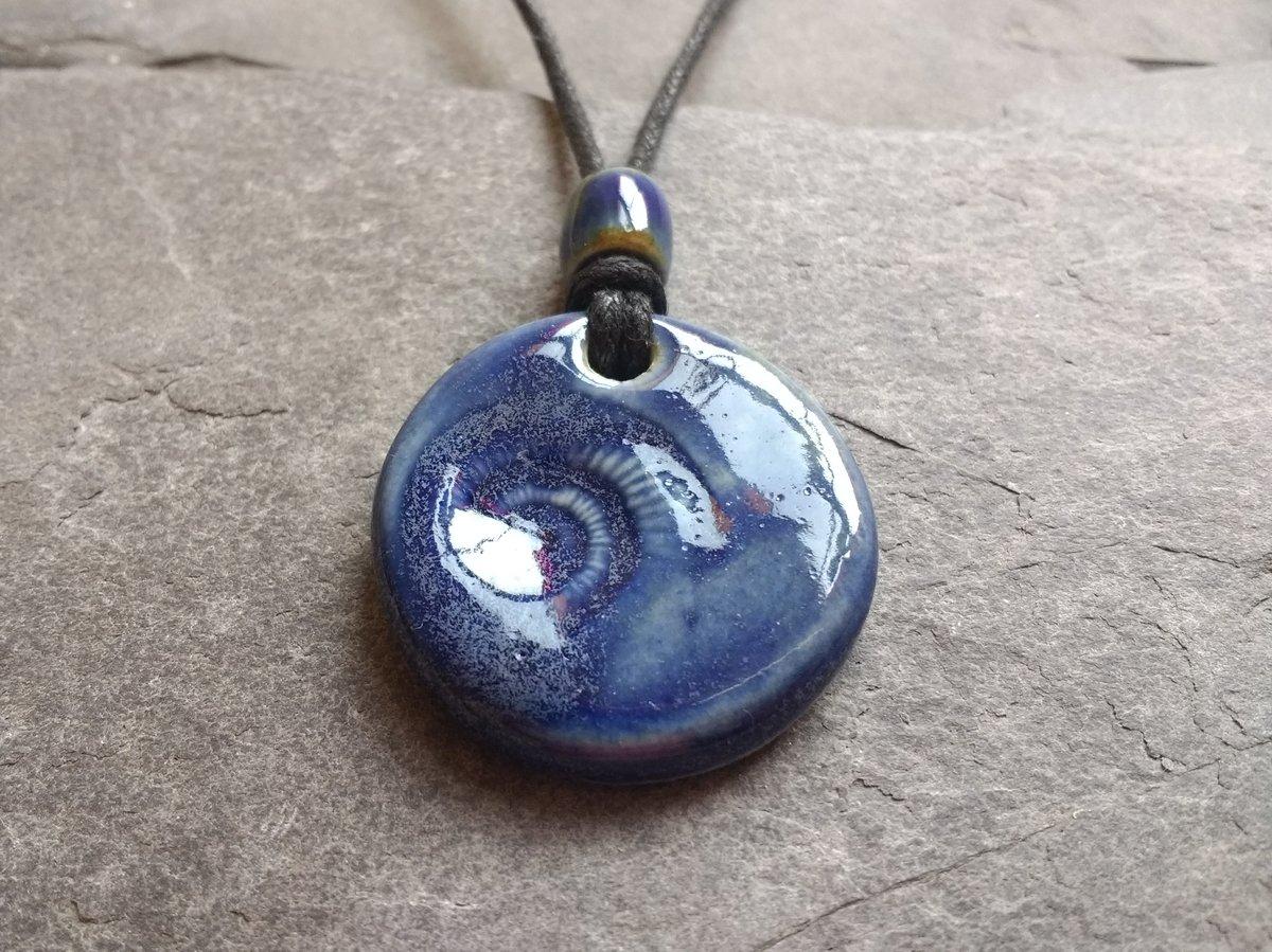 'Blue Ammonite' pendant