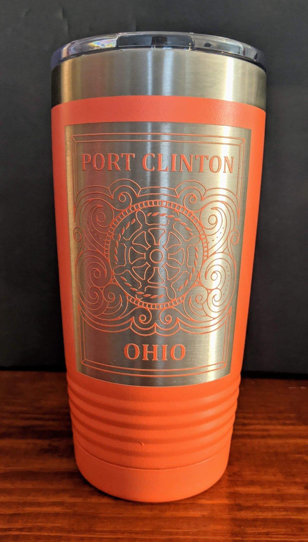 "Image of ""Port Clinton-Ohio"" 20oz. insulated Tumbler"