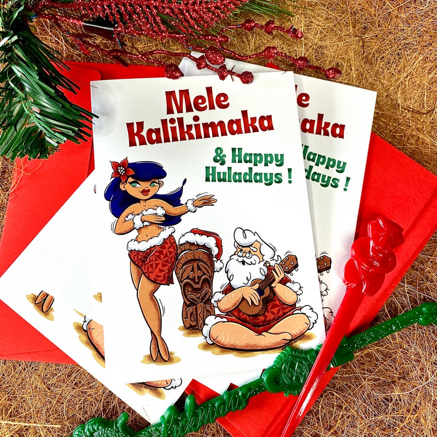 Image of Happy Huladays Greeting Card