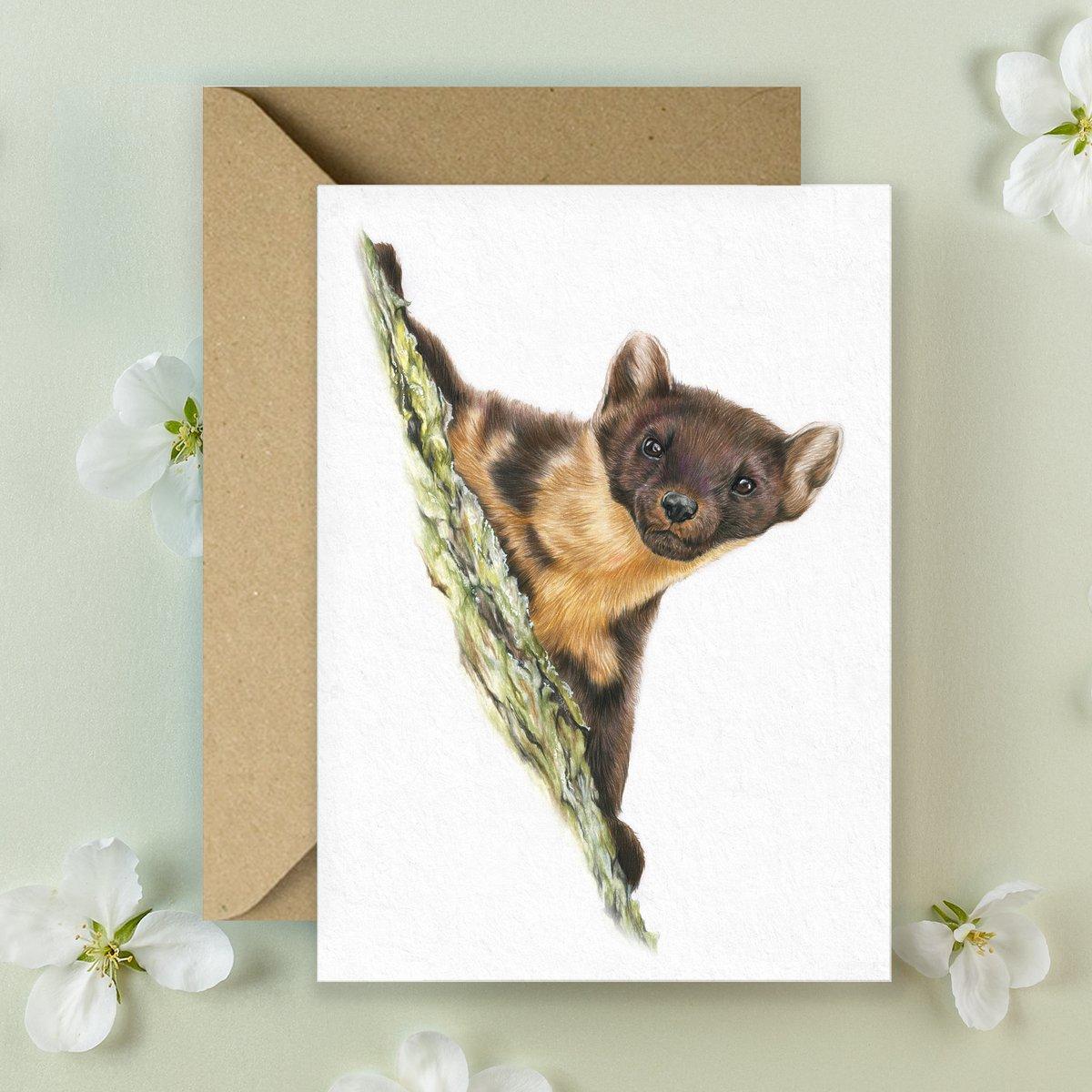 Image of Pine Marten - Greeting Card