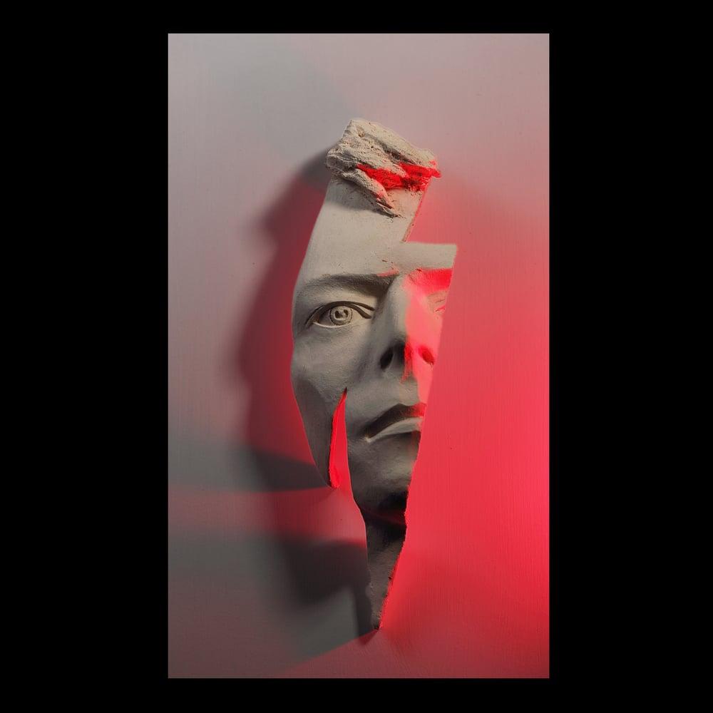 'Flash' David Bowie Face Sculpture