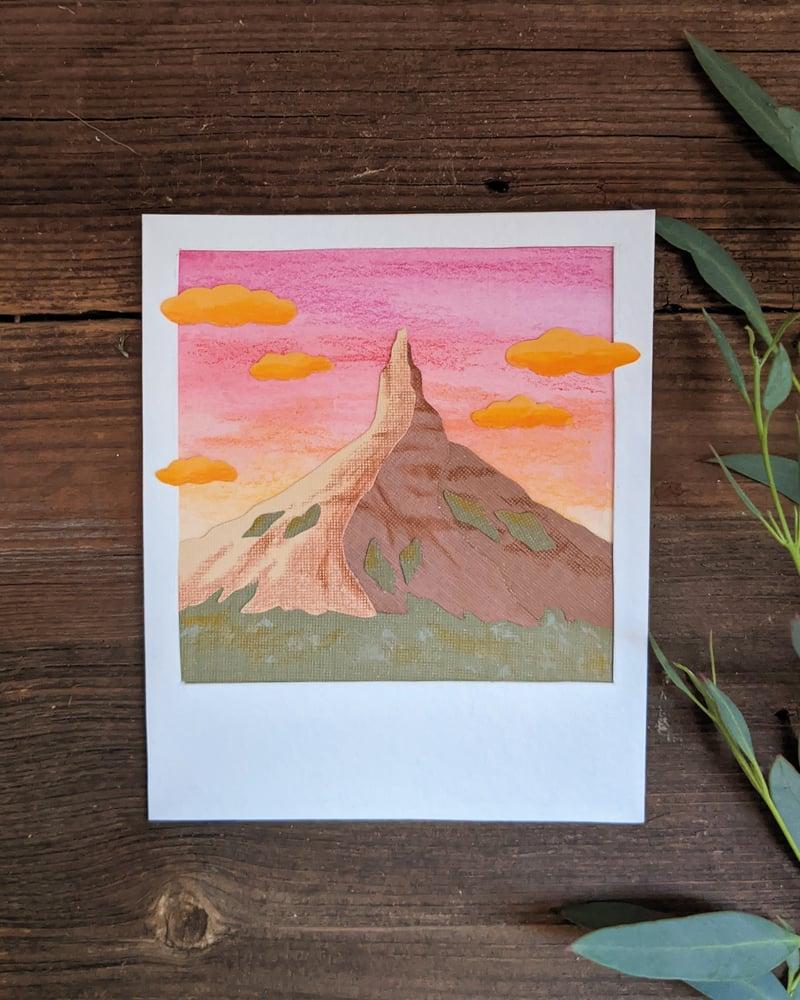 Image of Chimney Rock Polaroid