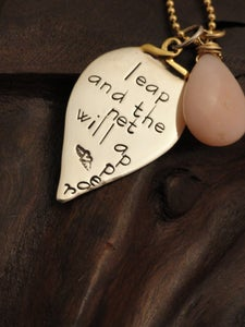 Image of Leap and the Net will Appear Necklace