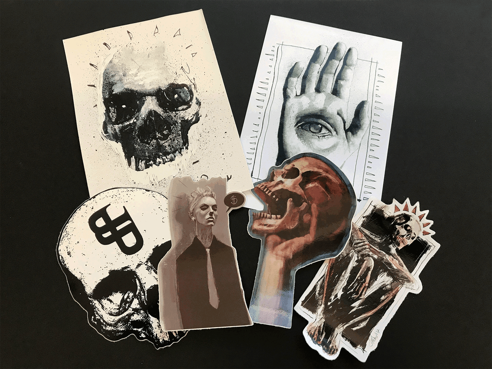 Image of Grab Bag - Stickers and Sketch