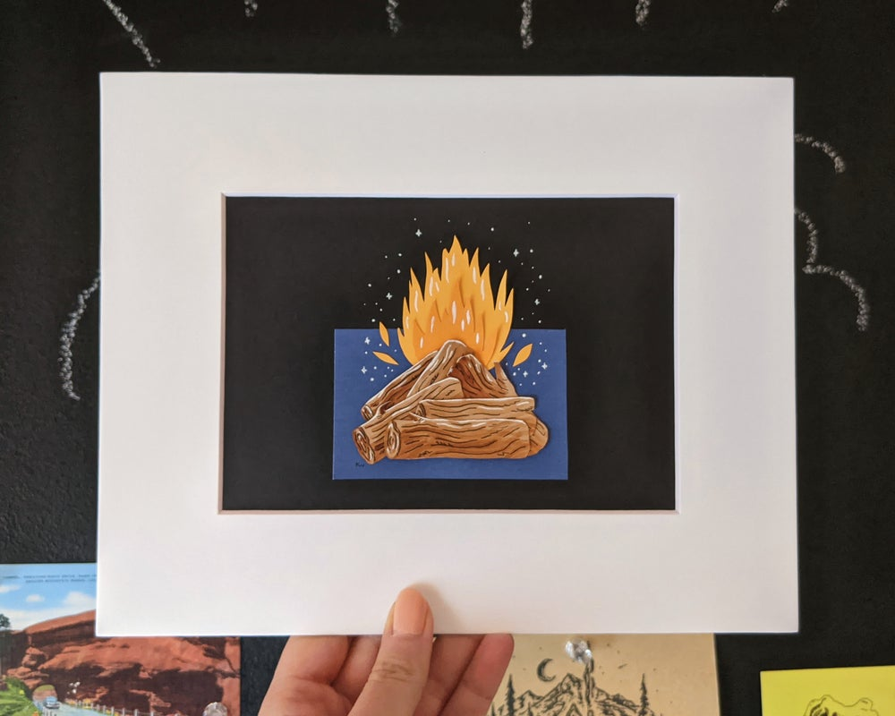 Image of Campfire cut paper