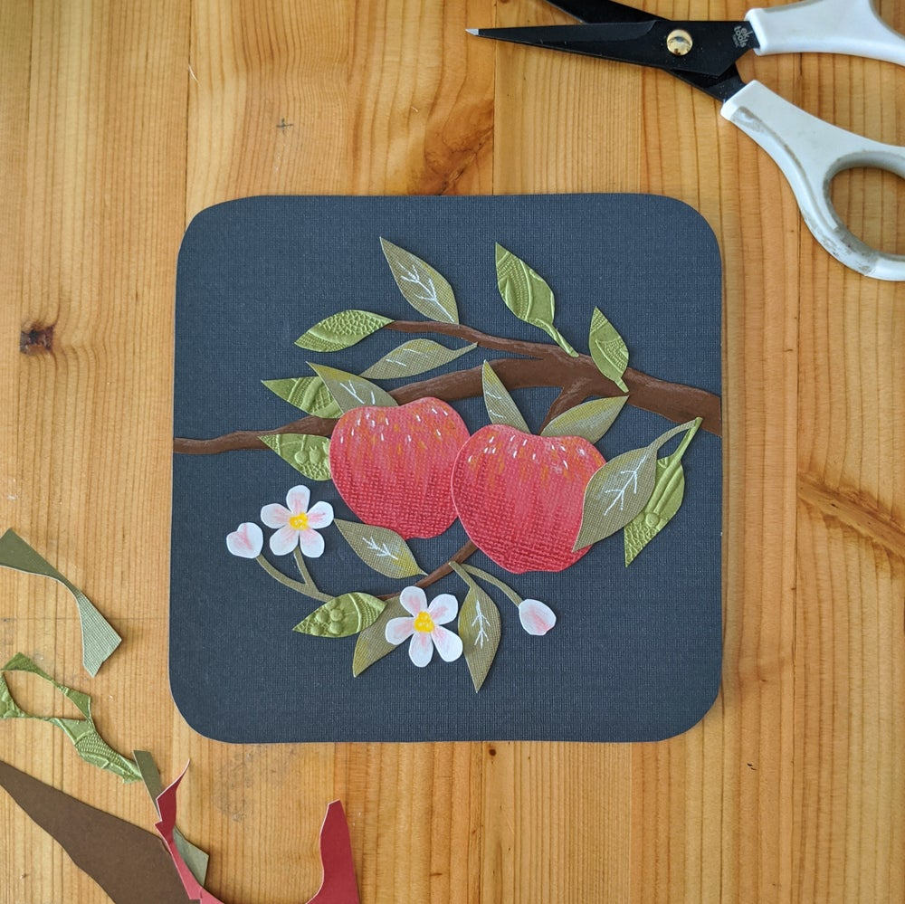 Image of Apple blossom cut paper