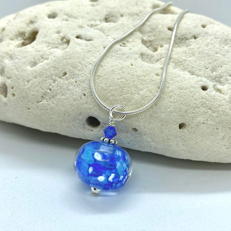 Image of Winter Sky Bobble Necklace with Crystal