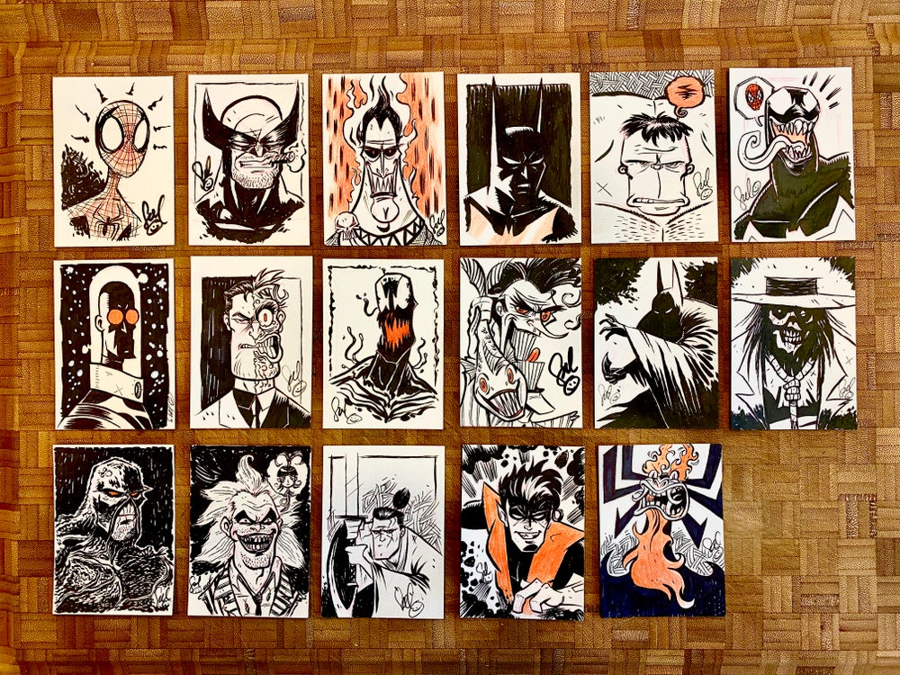 Image of TanoshiTober Sketch Cards