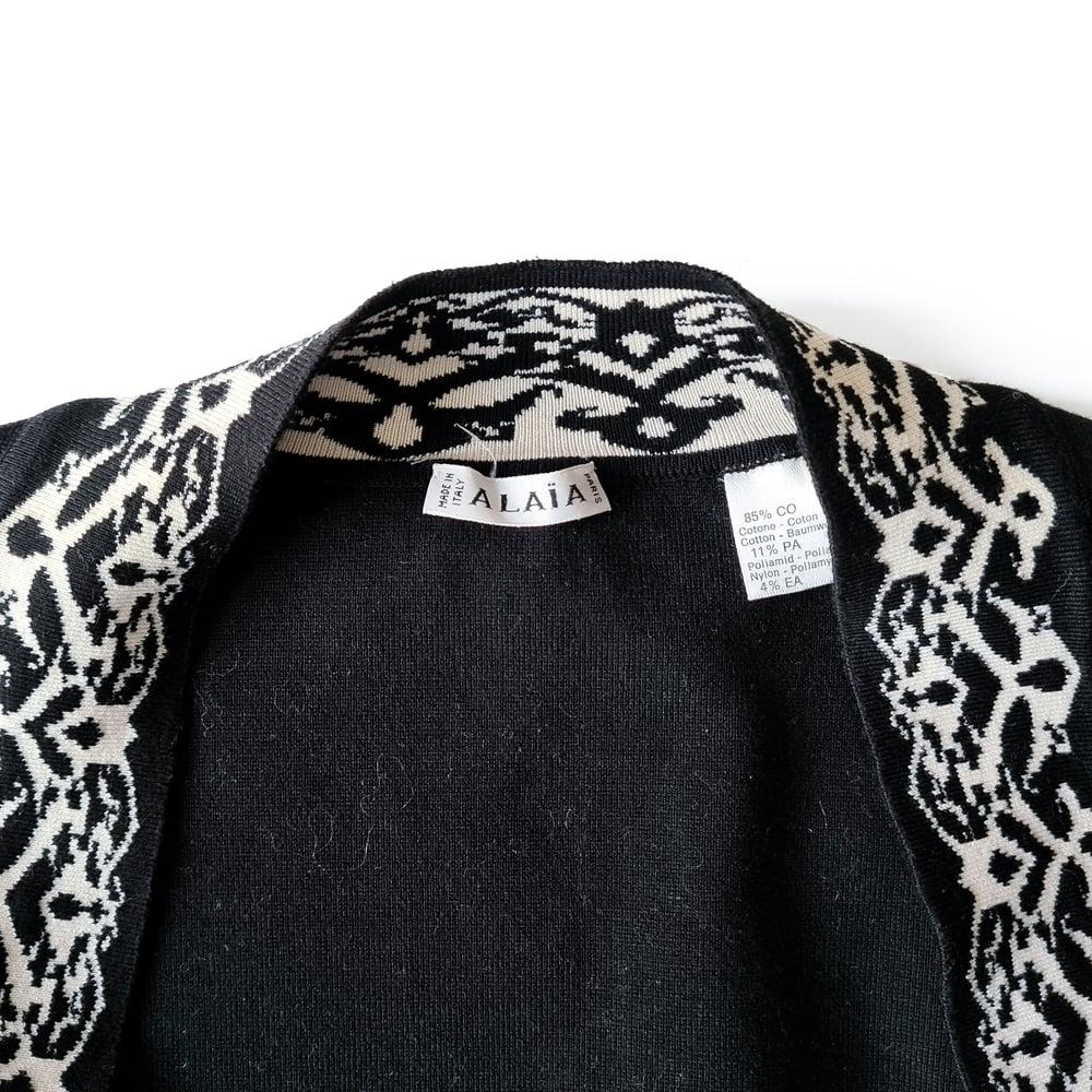 Image of Alaia 1992 Black Bolero Top