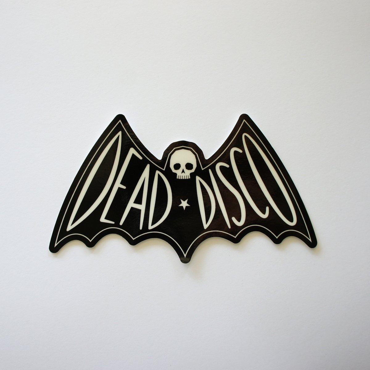 Glowing Dead Disco Bat Sticker