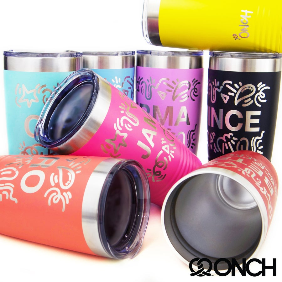 "Image of Personalized name ""ONCH Doodle"" Tumbler"