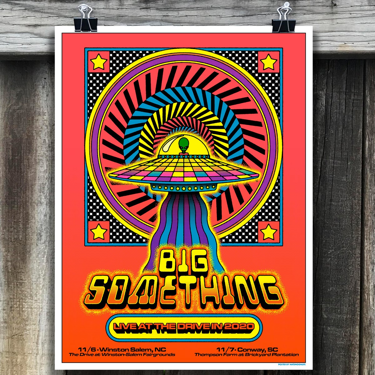 """Big Something • Live at the Drive-In • 18""""x24"""""""