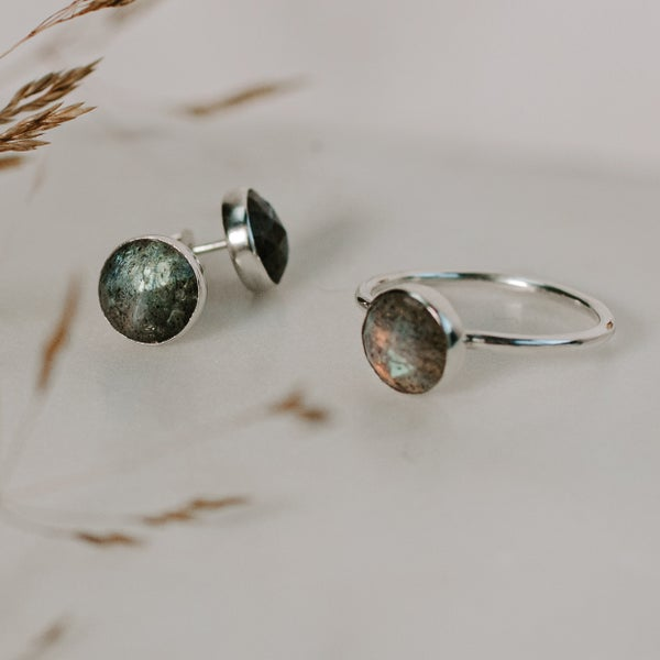 Image of Rose Cut Labradorite Set