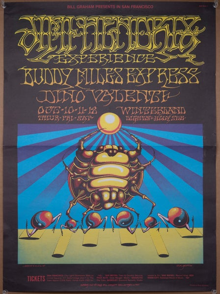 Image of JIMI HENDRIX EXPERIENCE Live At Winterland 1987 Polydor Germany LP Promo POSTER