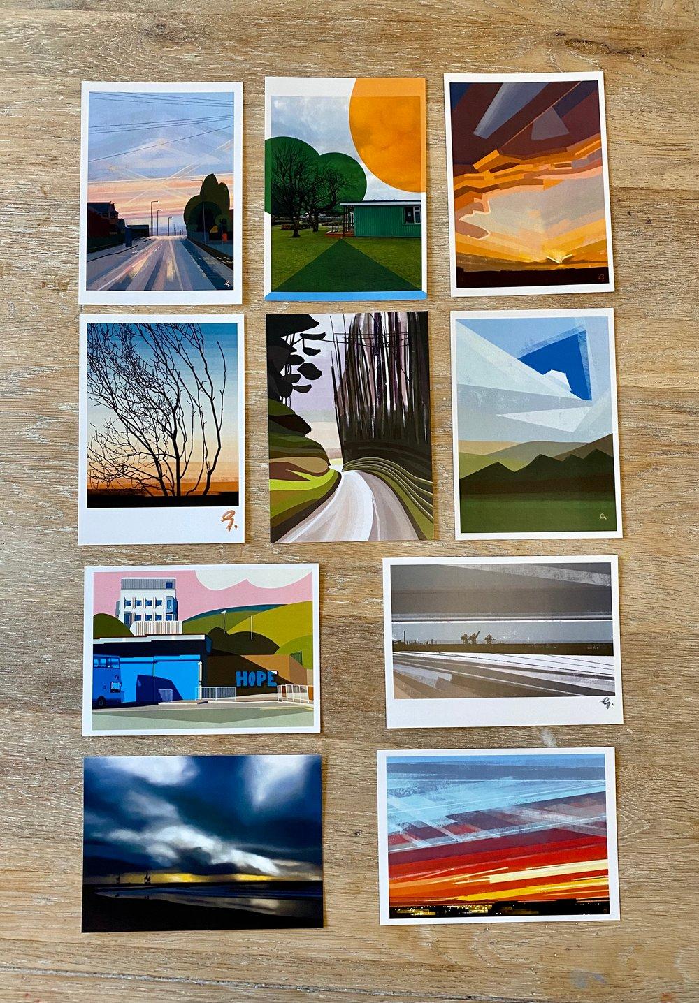 Full set of 10 Port Talbot Postcards