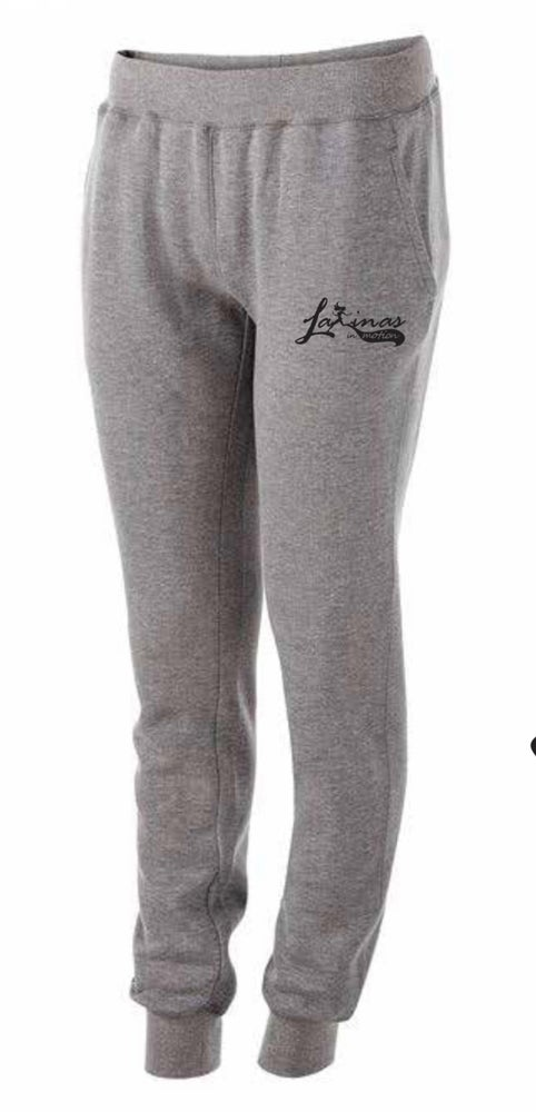 Image of Latinas in Motion Grey Fleece Joggers