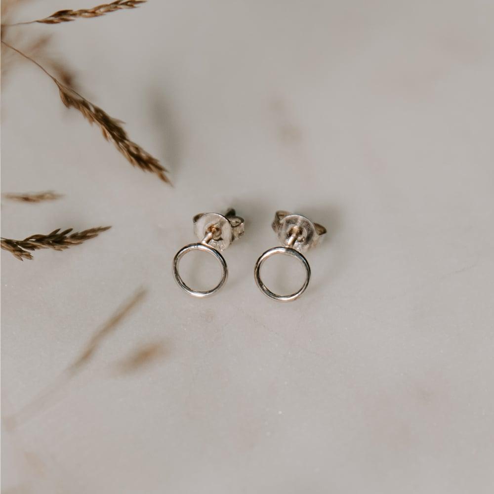 Image of Petite Circle Earrings