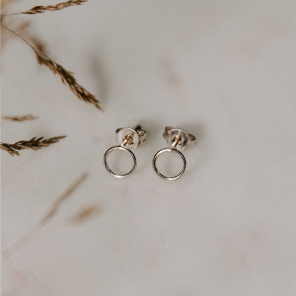 Image of Petite Circle Earrings