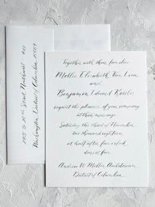 Image of Digital Printed 2 Piece Invitation Suite