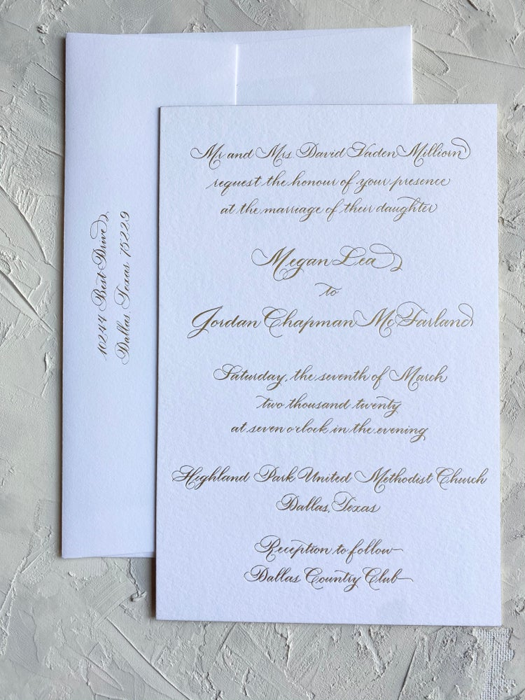 Image of Foil Printed 2 piece Invitation Suite