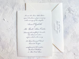 Image of Engraved 2 Piece Invitation Suite