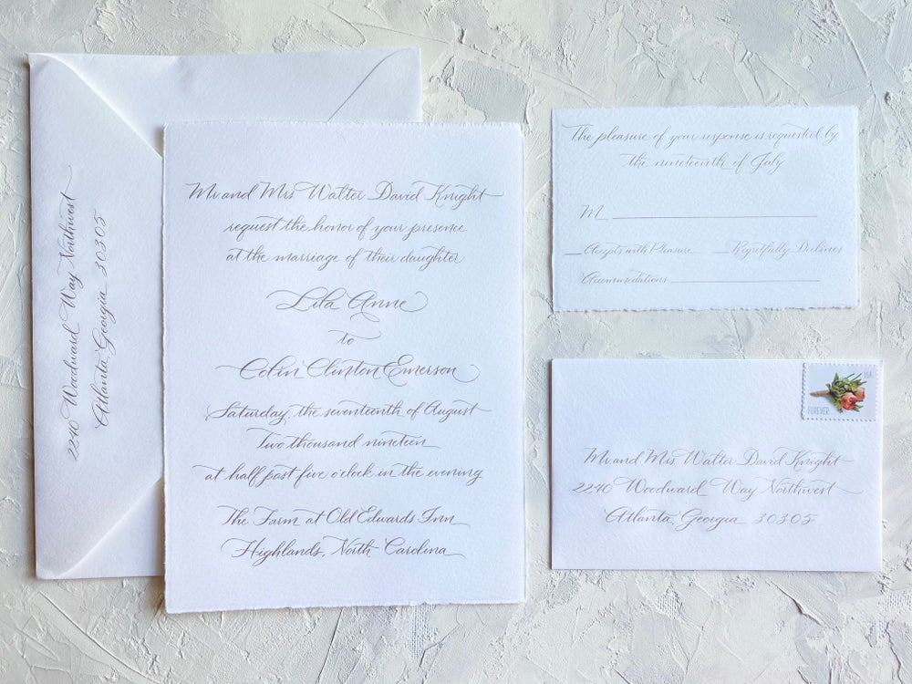 Image of Engraved 4 Piece Invitation Suite