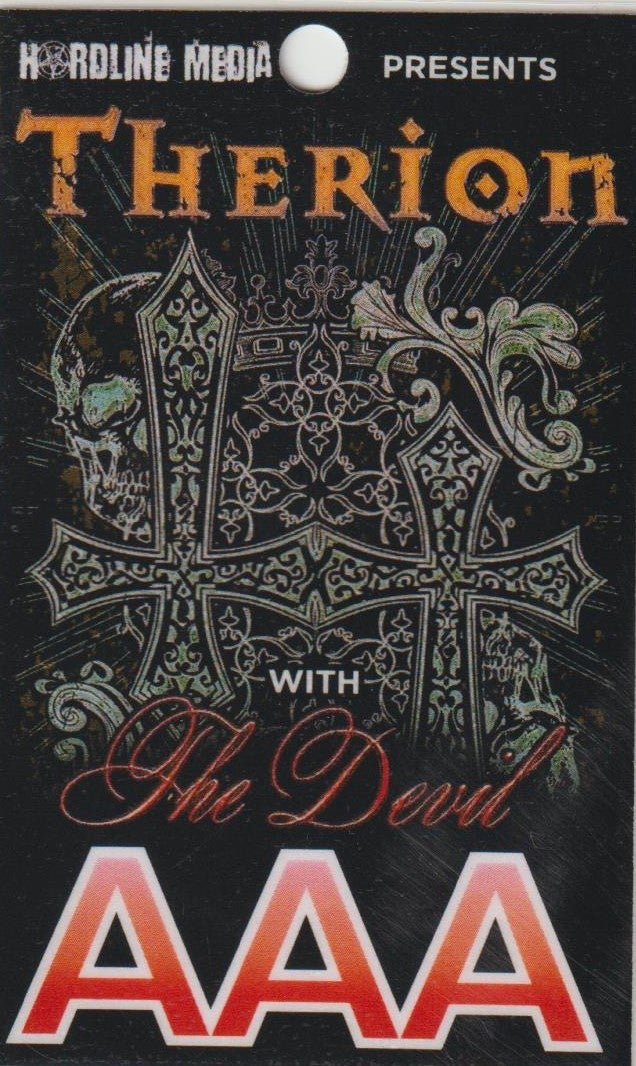 Image of THERION - Aussie Tour AAA Laminate - ONLY 1 IN STOCK