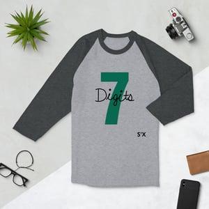 Image of 7 Digits 3/4 sleeve raglan shirt