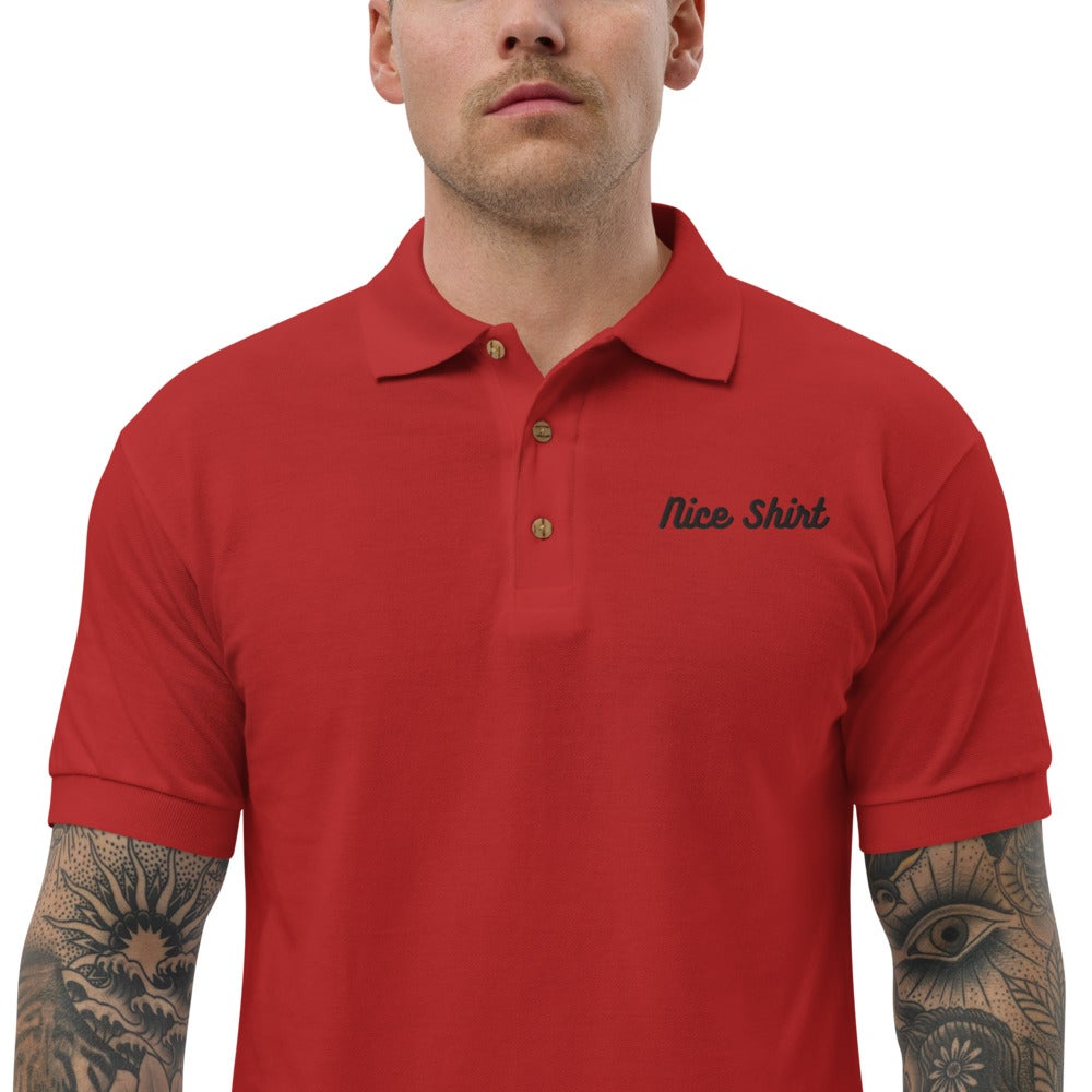 Image of Nice Shirt Embroidered Polo Shirt