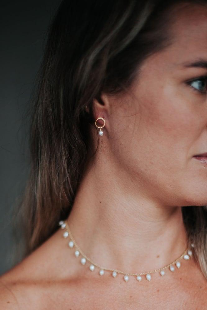 Image of Freshwater Pearl Fringe Necklace